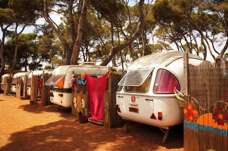 Ibiza se llena de caravanas a pesar de la pandemia
